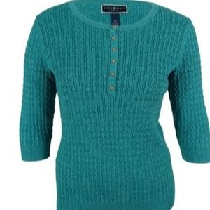 Karen Scott Woman Button Embellished Sweater